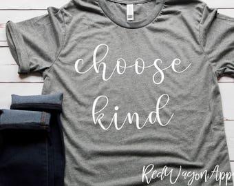 Choose Kind | Unisex Jersey Short Sleeve T- Shirt | Choose Kind Shirt | Be Kind T-Shirt | Cute Woman's T-shirt | 064