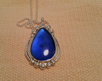Cobalt Glass Pendant