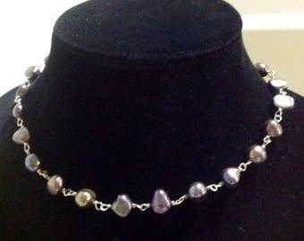 Baroque black pearls