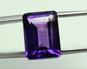 Natural Amazing AAA Huge Purple African Amethyst Size 10x14 mm faceted Octagon 1 PC CODE :- AQ56
