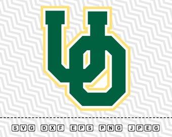 SVG Oregon Ducks Logo Vector Layered Cut File Silhouette Cameo Cricut Design Template Stencil Vinyl Decal Tshirt Heat Transfer Iron