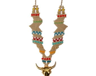 Necklace with Bull Head