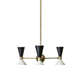 Beautiful Italian chandelier with three arms