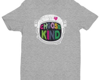 Choose Kind Anti Bullying Helmet Novelty Short Sleeve T-shirt