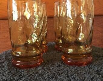 12oz AMBER Drinking Glasses - Set of 4