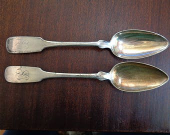 COIN SILVER - large spoons-German