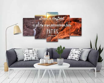 Proverbs 3:5-6 #30 KJV Biblical Wall Art, Bible Quote Art, Bible Verse Prints, Christian Art Gifts, Religious Gifts, Christian Prints