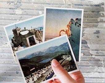 Vintage Postcards Germany Alps Mountains 1960 Mid Century Bayerische Zugspitzbahn