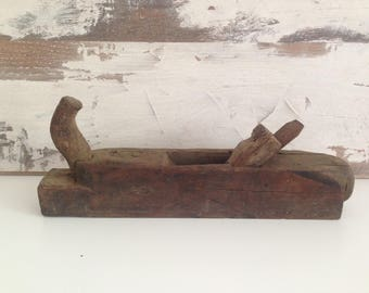 Primitive Tool - Carpenter Planer Wooden Primitive Woodworking Tool Wood Planer  - Carpenter's Tool