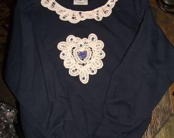 Girls Batenburg Doiley sweatshirt