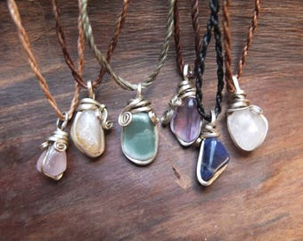 Healing Stone Necklace (silver)