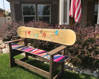 Snowboard Bench -Traditional Look