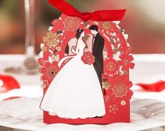 Wedding box Door confetti-laser Confetti carrying red Grooms