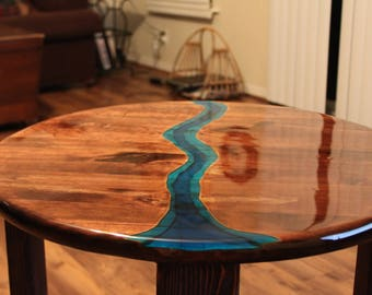 Solid Wood River Table (End Table)