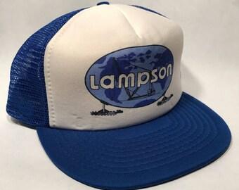Lampson Crane Vintage Style Blue SnapBack Cap 2356