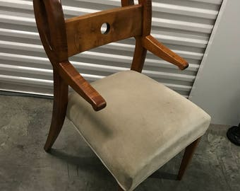 Blueprint Solid Wood Chairs with Circle Back Rest