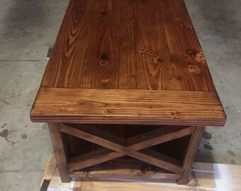 Stained Farmhouse Coffee Table