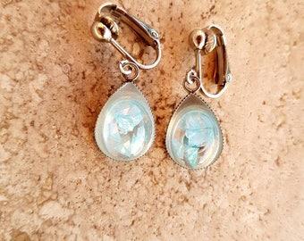 Blue Resin Drop earrings