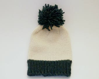 Knitted Pom-Pom Hat
