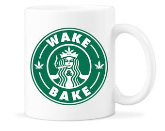 Starbuds Coffee Gift Starbuds Coffee Mug Starbuds Stoner Gift Wake and Bake Wake Bake Coffee Mug Wake and Bake Mug Wake Bake Coffee