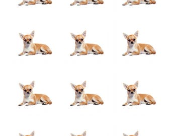 12 x Chihuahua Dog Breed Edible Stand Up Wafer Cupcake Toppers x 12
