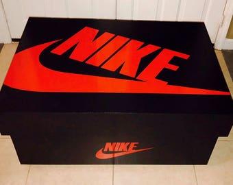 nike shoe box label template