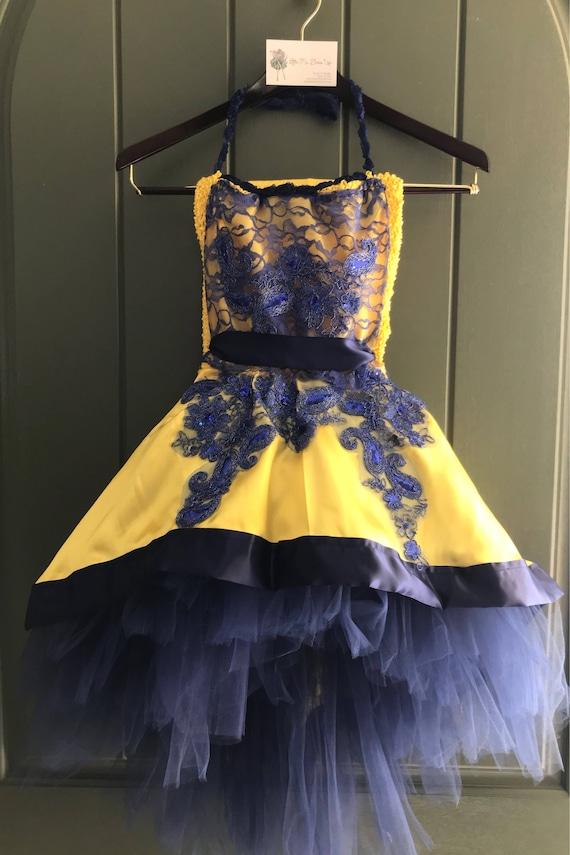 Mal Costume Descendants 2 Yellow Cotillion Dress Mal