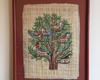 Egyptian Papyrus Painting- The Tree of Life.