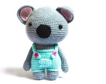 Australian animal Grey Koala Baby Toy knitted koala toy koala bear gift koala baby gift crochet koala amigurumi koala bear miniature koala