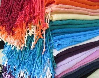 Pashmina wraps shawls - scarf men's-women's fashion Turkey Pashmina shawl scarf rustic country wedding bridesmaid gifts-bridal shower favor