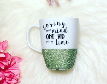 GLITTER DIPPED | Losing My Mind One Kid at a Time Mug