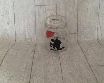 Lest we forget,  poppy,  remembrance, decorative jar