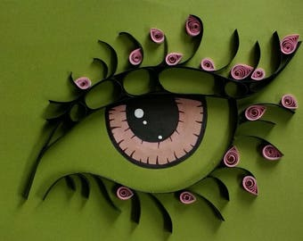 Decor home with this eye quilling art