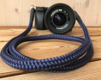 Handmade Shoulderstrap for DSLR blue-present-accessoires-style Camerastrap-Christmaspresent for him-Christmaspresent for her
