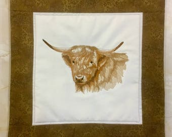 Highland Cow Cushion Cover