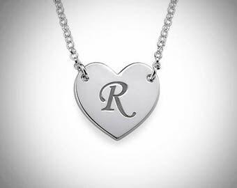 Initial Letter Necklace | Letter Necklace | Letter Initial Necklace | Sterling Silver Initial Necklace | Customized Initial Letter Necklace