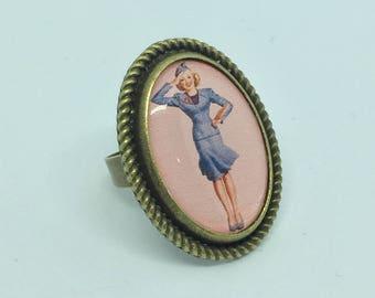 Ring pink Air Hostess