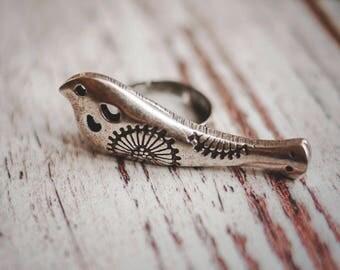 Winter gift wife / Turtledove ring / bird ring / boho ring / silvered ring / boho jewelery / ethnic ring / ethnic jewelery / gift for her