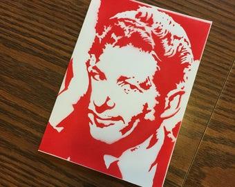 Danny Kaye Christmas Card, Christmas Vacation Christmas card, Clark Griswold, Danny F'n Kaye, White Christmas