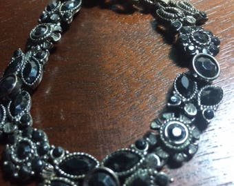 Hemstite Stone Bracelet Wrapped in Silver