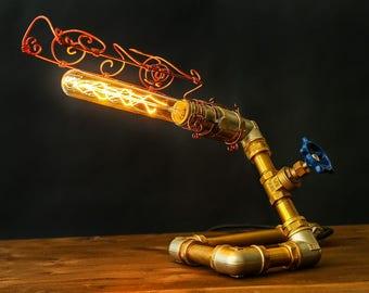 Сopper pipe lamp