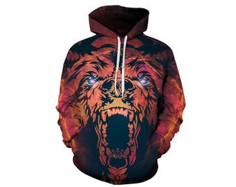 Bear Hoodie, Bear, Bear Hoodies, Animal Prints, Animal Hoodie, Animal Hoodies, Bears, Hoodie Bear, Hoodie, 3d Hoodie, 3d Hoodies - Style 2