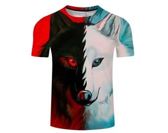 Wolf Shirt, Wolf Shirts, Wolf Tee Shirt, Wolf Tshirt, Wolves Shirt, Wolf T-shirt, Wolf, Wolves, Wolves Tshirt, Shirt, Wolf Tee - Style 7