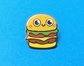 Burger Pin Pal - Hard Enamel Pin Badge