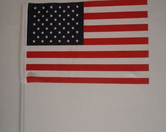 "10""X15""  15 American Flags with Poles - 15 US Flag Bundle total USD19+10 shipping"
