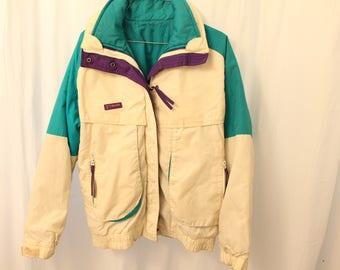 "Vintage 90s Columbia ""Powder Keg"" Ski Coat w/ Reversible liner - Womens L"