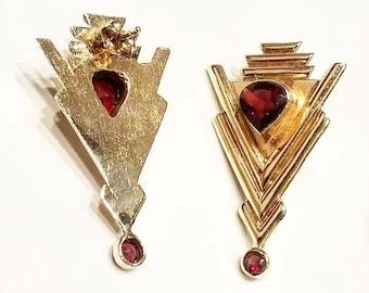14k gold Star Drop earrings