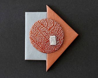 "BROOCH #1 ""Tetris"" Polymer clay art Jewel"