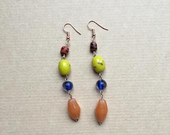 mixed chain earrings