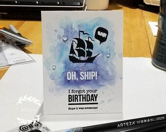 Funny Handmade Belated Birthday Card